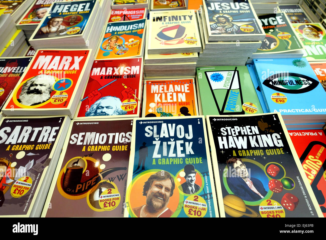 'Introducing' series of books from Icon about famous thinkers and ideas, London - Stock Image