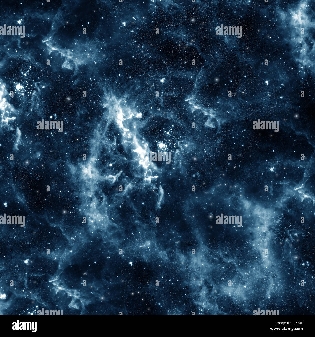 Blue galaxy - Stock Image