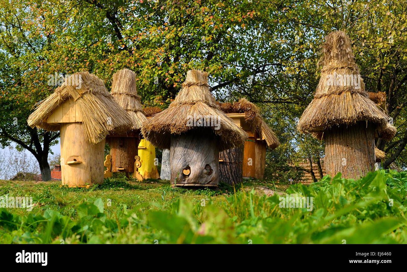 ancient beehives_2 - Stock Image