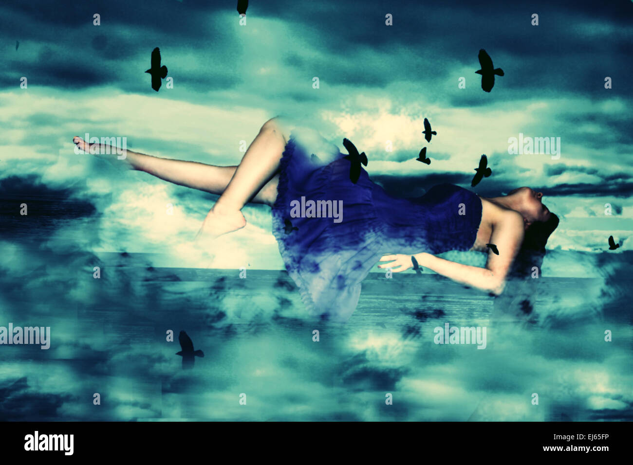 Surreal manipulation - Stock Image
