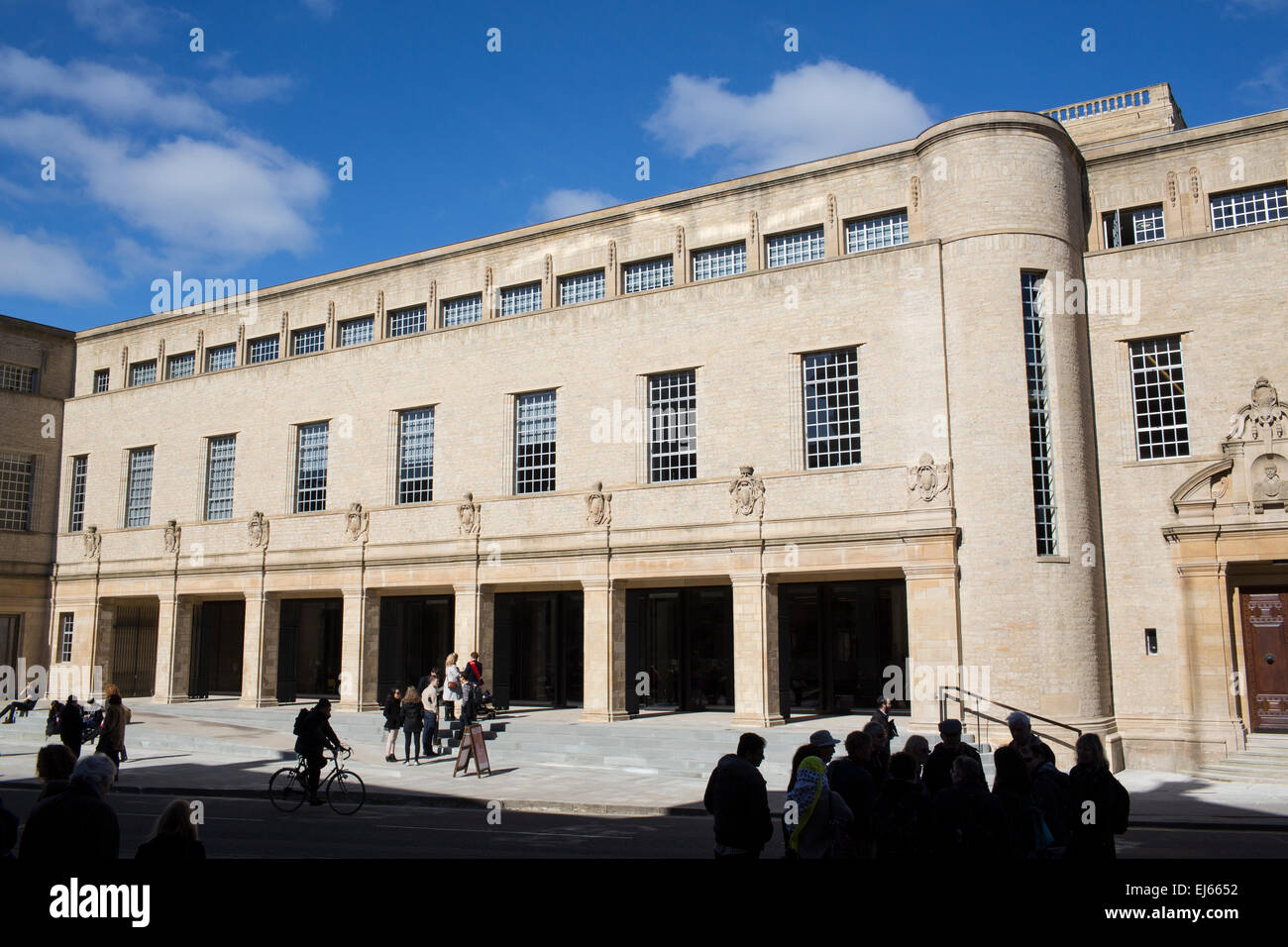 Weston Library in Oxford, England. Reopened after an £80 million facelift. Stock Photo