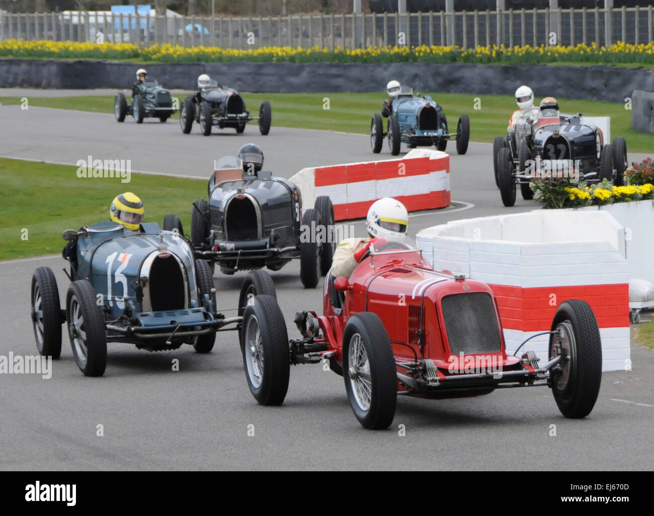 Among the literally millions of pounds worth of motoring legends going through their paces at the 73rd Goodwood - Stock Image