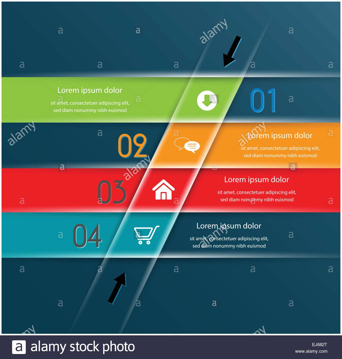 Colorful numbered banners /can be use for web design, web elements ...