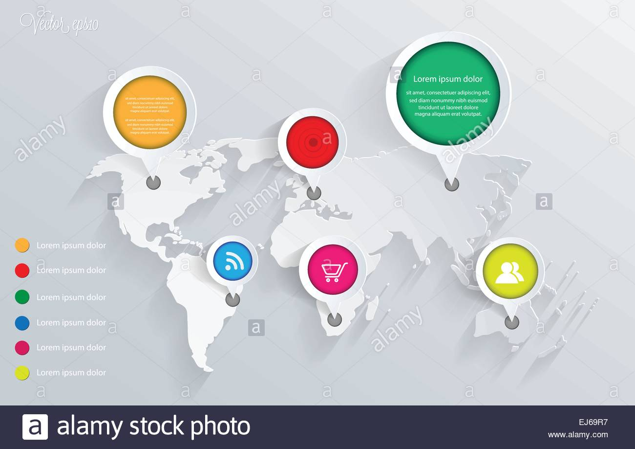 3d vector world map illustration and infographics design template 3d vector world map illustration and infographics design template vector eps10 gumiabroncs Images