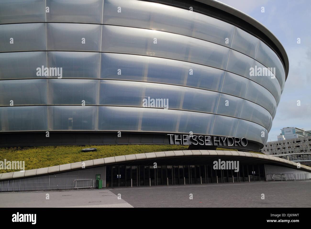 SSE hydro arena secc Glasgow Scotland uk - Stock Image