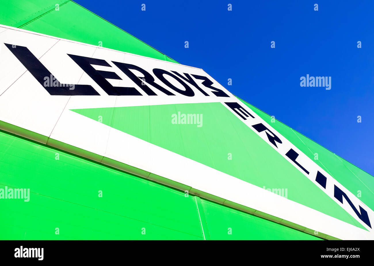 Leroy merlin brand sign against blue sky stock photo: 80044914 alamy