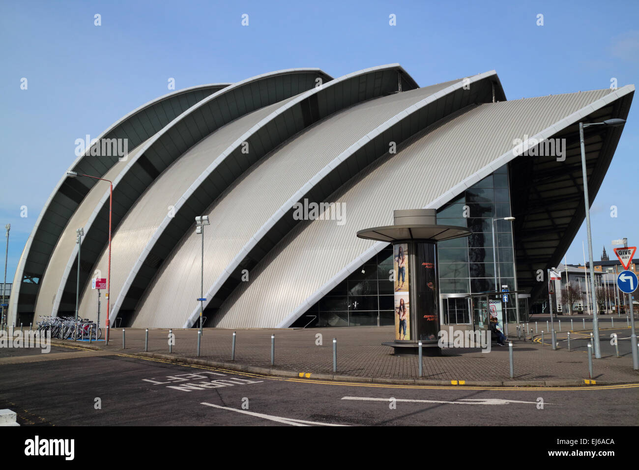 clyde auditorium at the secc scottish exhibition and conference centre Glasgow Scotland uk - Stock Image