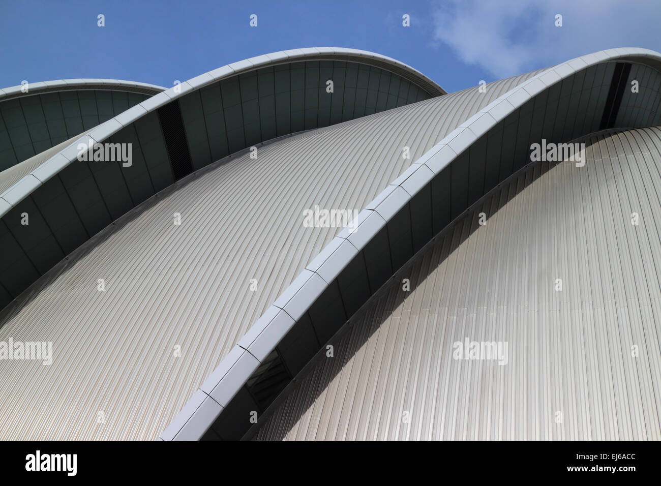 architecture of the clyde auditorium at the secc scottish exhibition and conference centre Glasgow Scotland uk - Stock Image