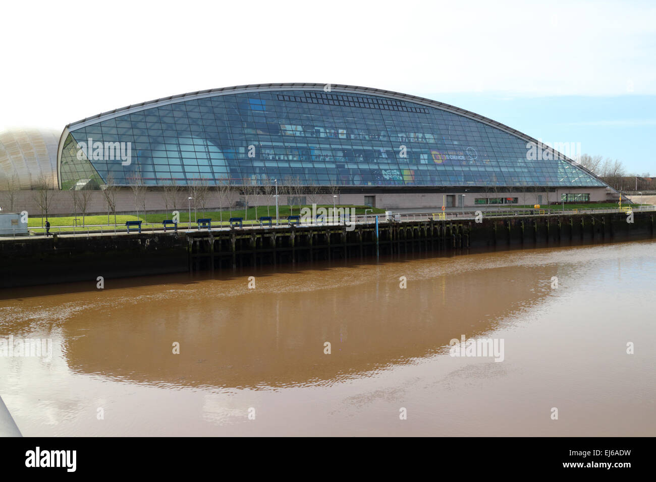 Glasgow science centre science mall building pacific quay Scotland uk - Stock Image