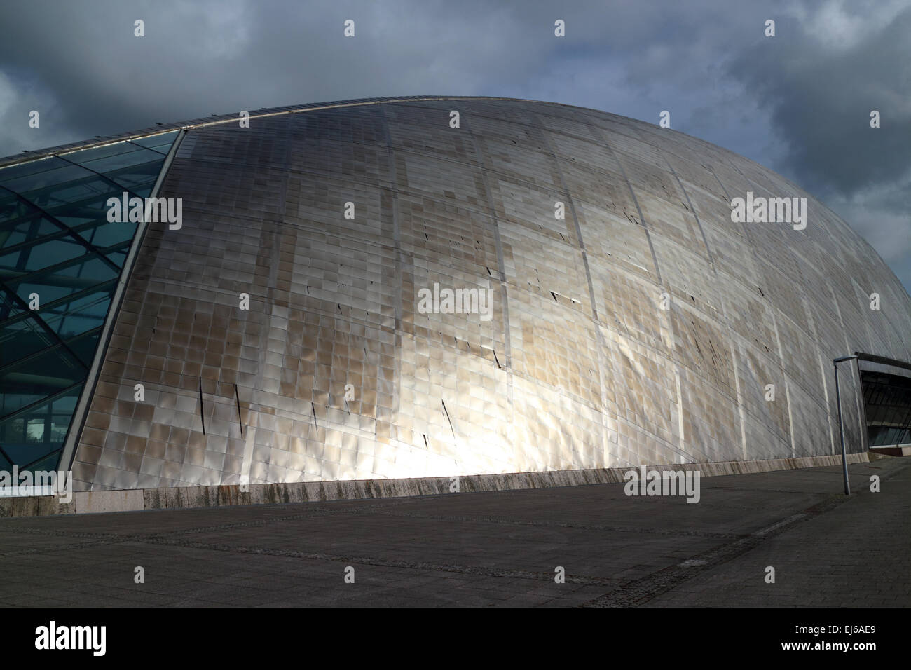 Glasgow science centre mall building pacific quay Scotland uk - Stock Image