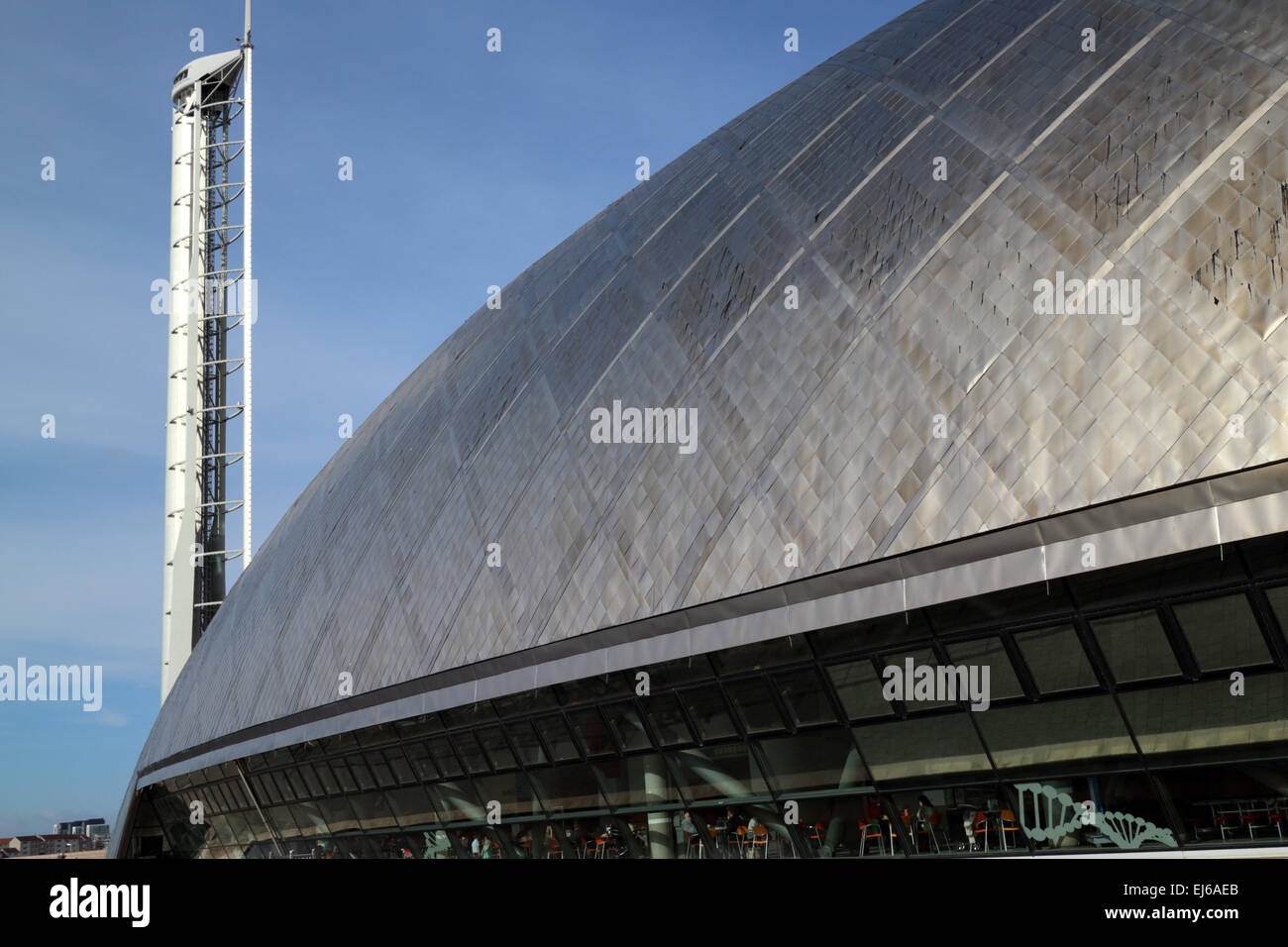 Glasgow science centre mall building and tower pacific quay Scotland uk - Stock Image