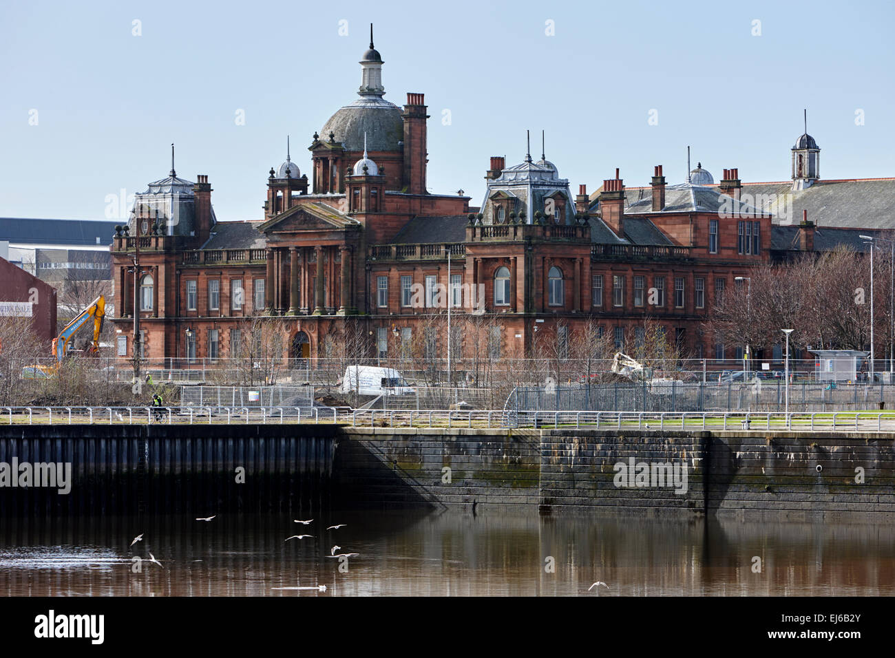 Govan burgh town hall now film city Glasgow Scotland uk - Stock Image