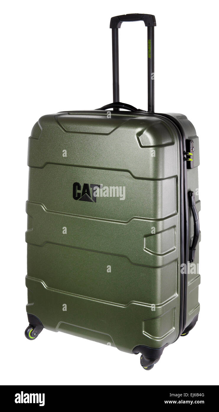 cut out image of 4 wheeled suitcase - Stock Image