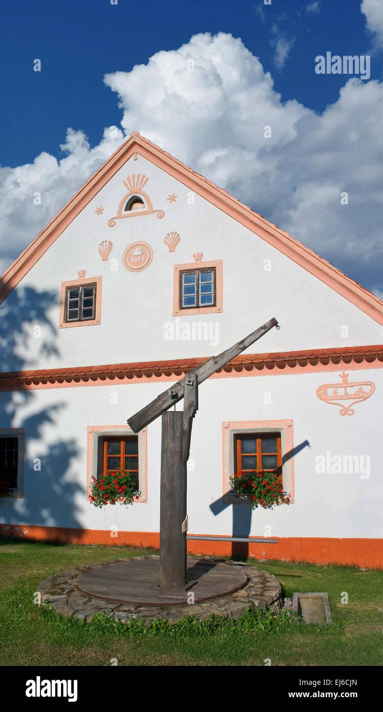 Holasovice South Bohemia folk architecture - UNESCO heritage - Stock Image