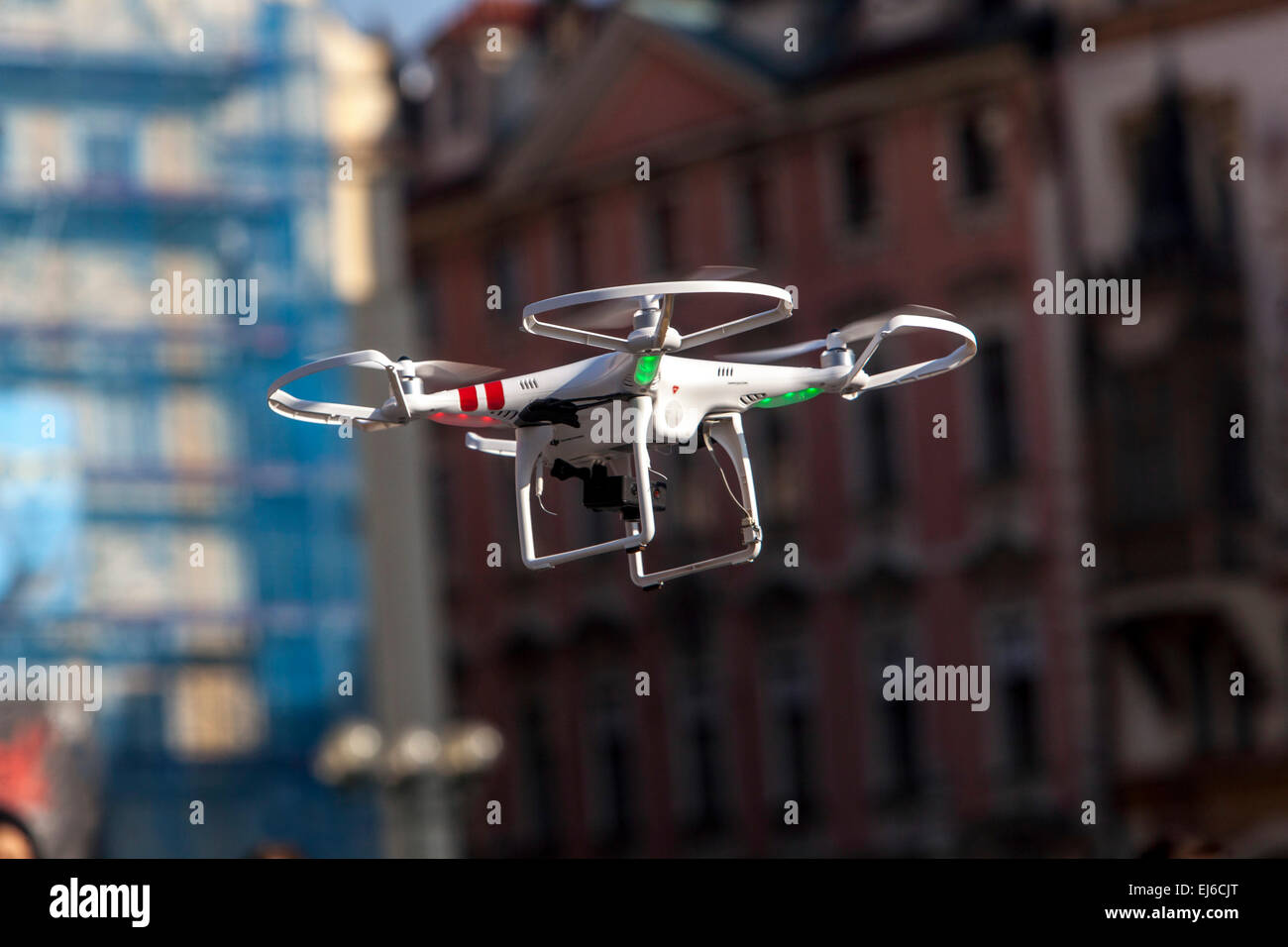 Drone Old Town Square Prague Czech Republic Europe - Stock Image