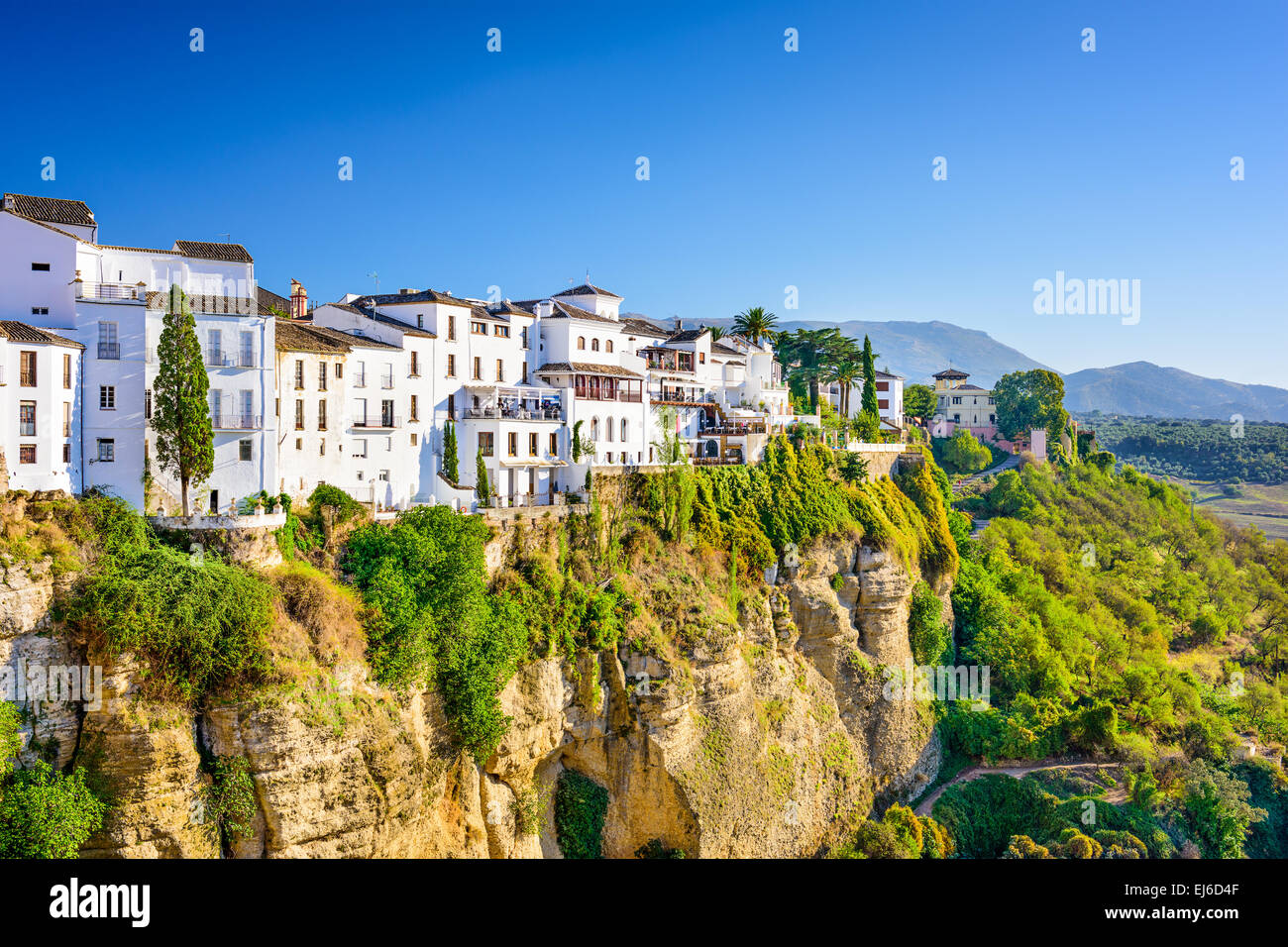 Ronda, Spain old town cityscape on the Tajo Gorge. - Stock Image