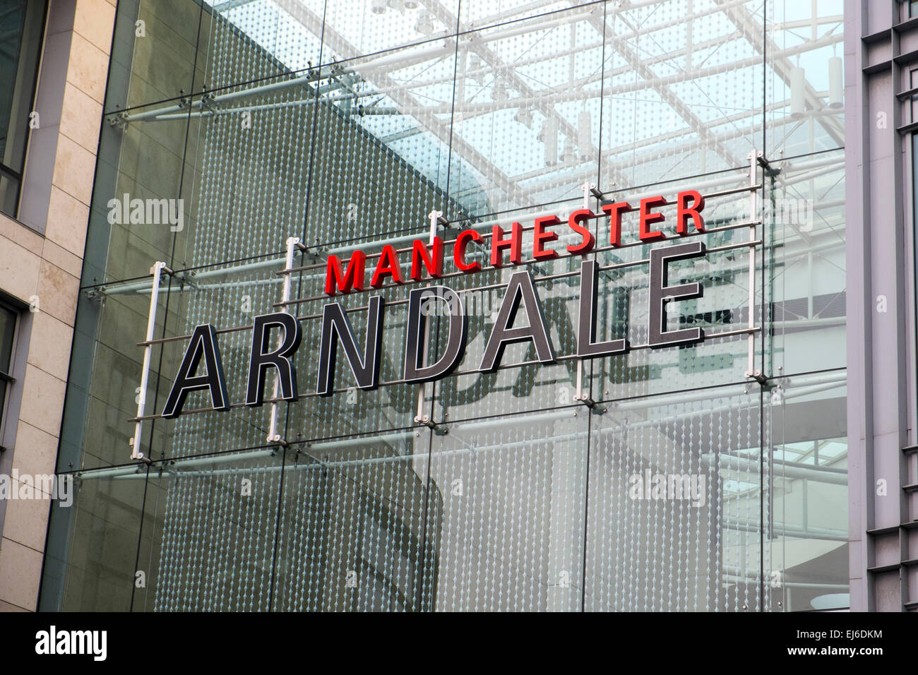 Manchester England - Stock Image