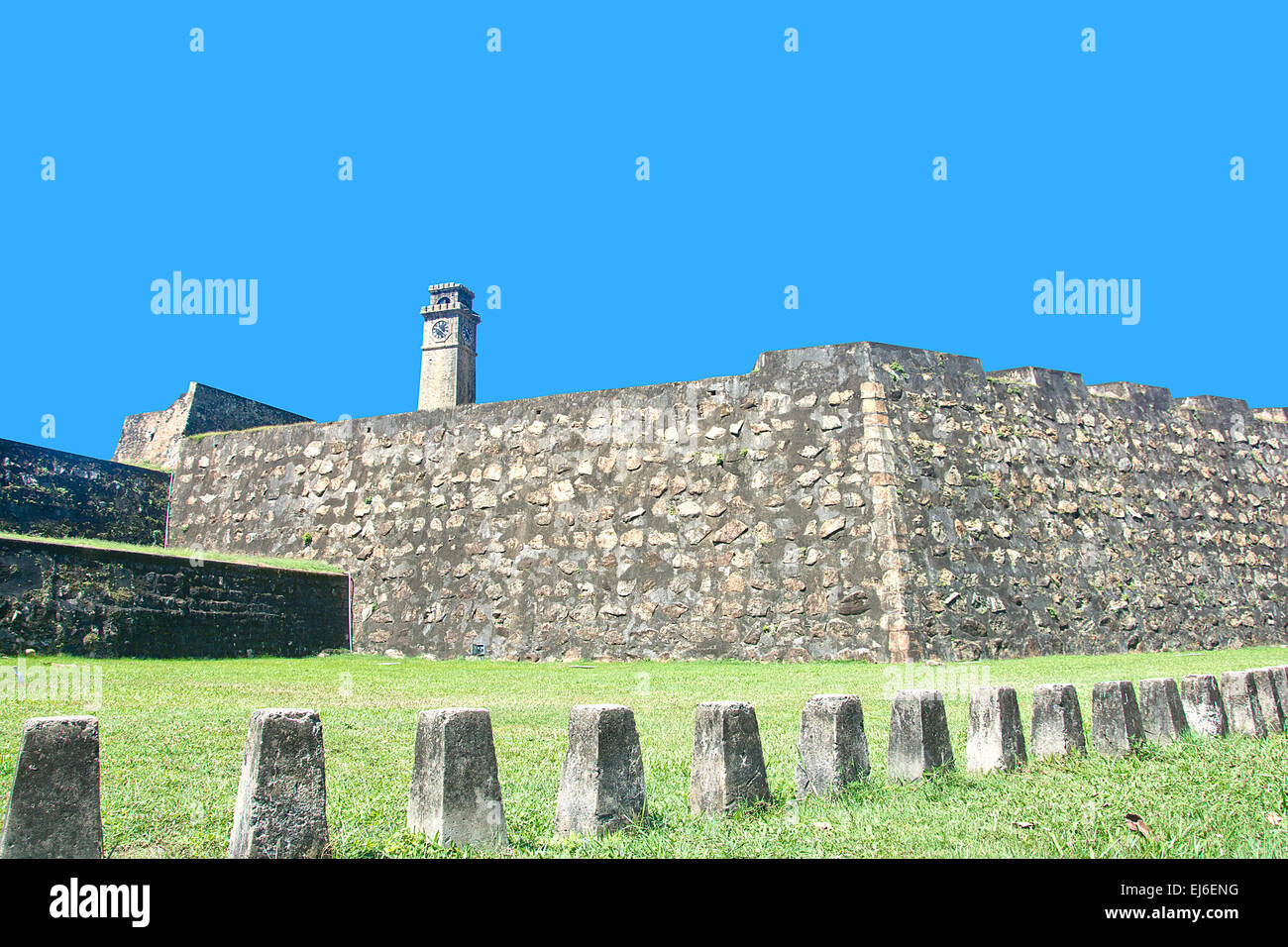 Galle Dutch Fort 17th Centurys Ruined Dutch Castle That Is Unesco Listed As A World Heritage Site In Sri Lanka Stock Photo