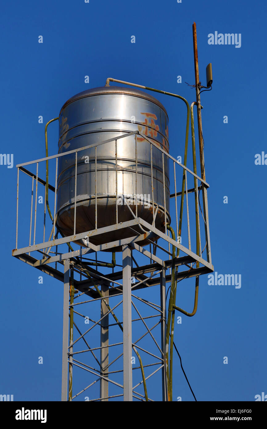 Water Tank Storage Roof Stock Photos & Water Tank Storage Roof Stock ...