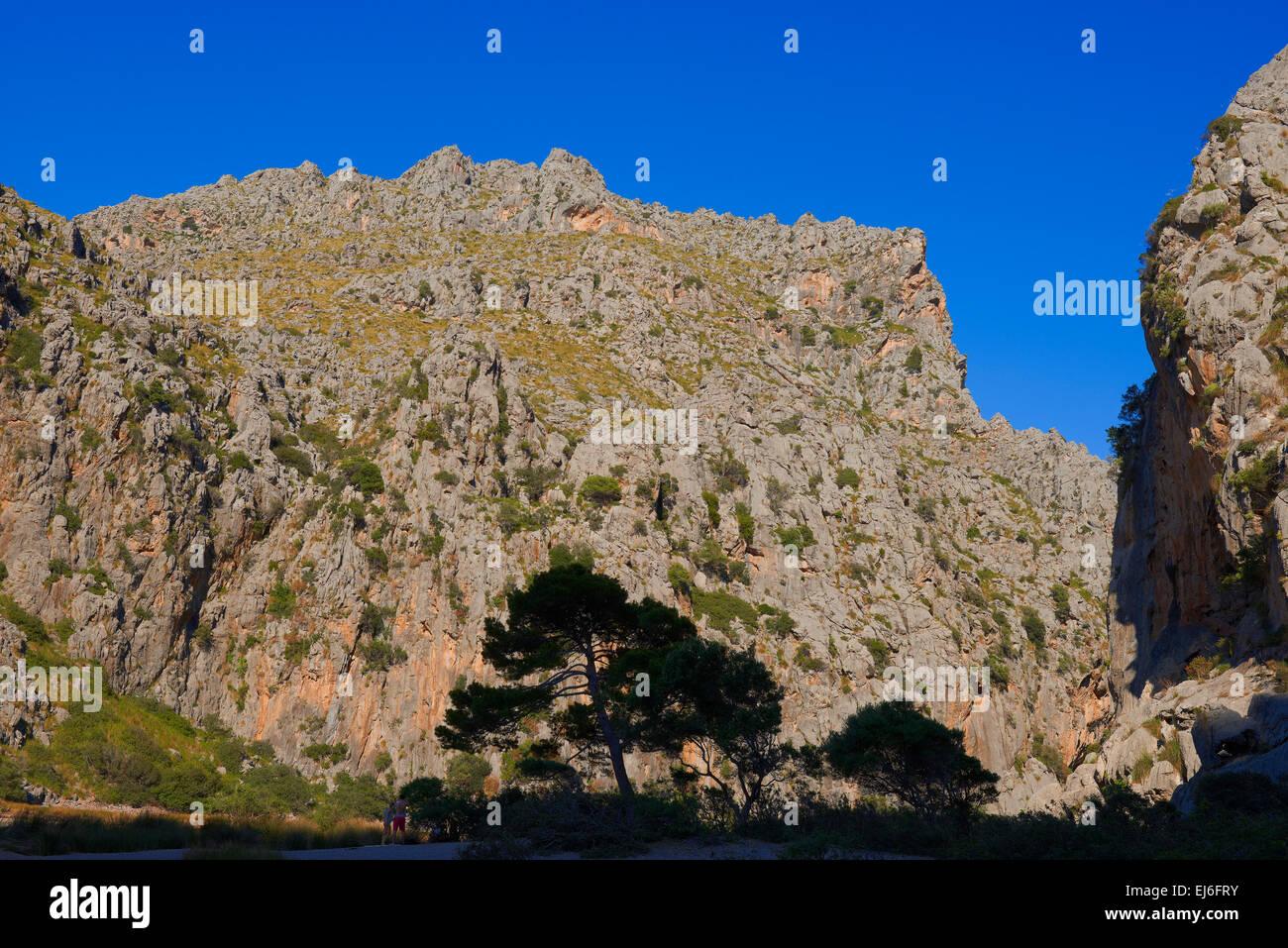 Mallorca, Sa Calobra, Escorca, La Calobra Cala, Torrent de Pareis, Serra de Tramuntana, UNESCO World Heritage Site, - Stock Image