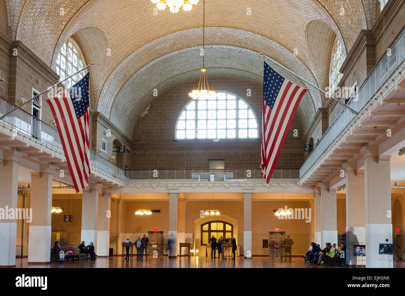 Barrel Vaulted Ceiling Of The Registry Room Also Called The