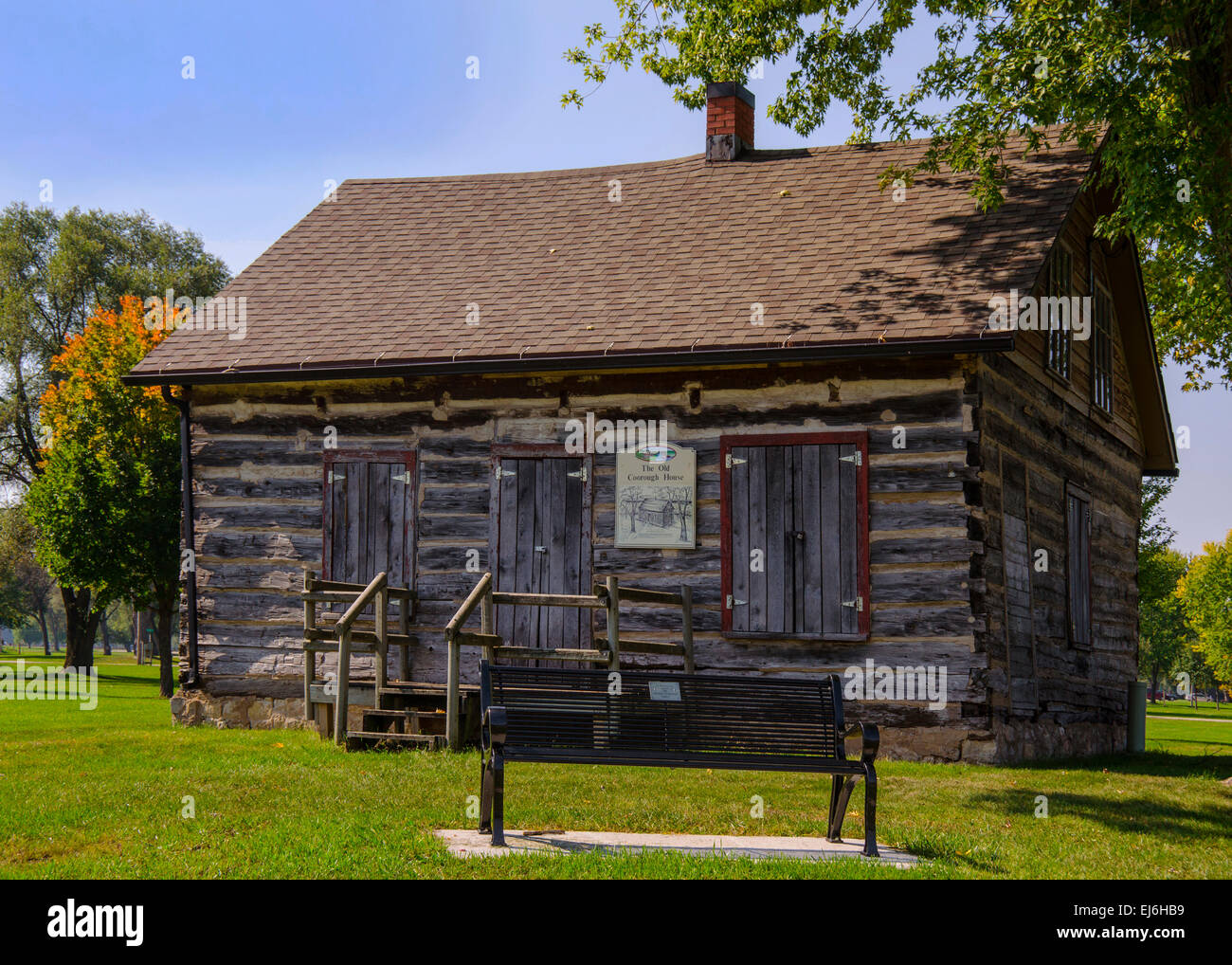 The old courdough house in prairie du chien wisconsin is a french canadian log cabin