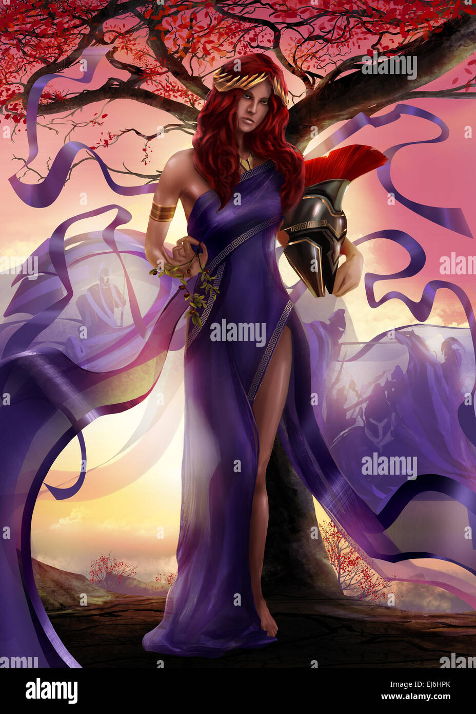 In Greek Mythology Athena Was The Goddess Of War Stock Photos In