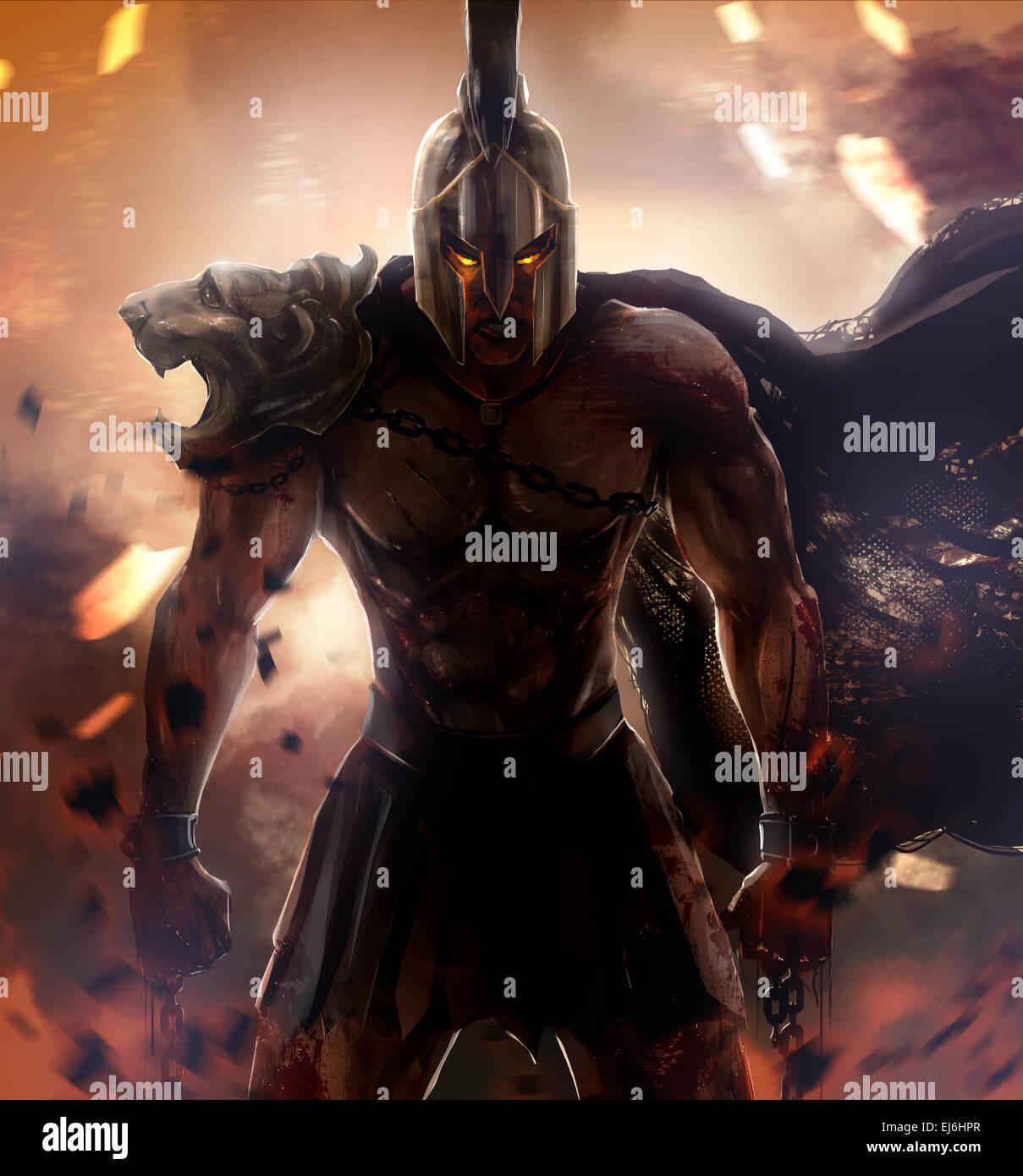 Spartaner Krieger