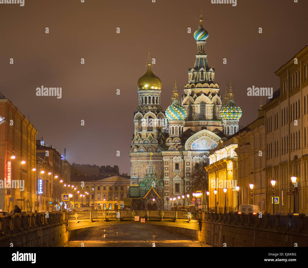 Church of the Saviour on Spilled Blood, St. Petersburg, Russia - Stock Image