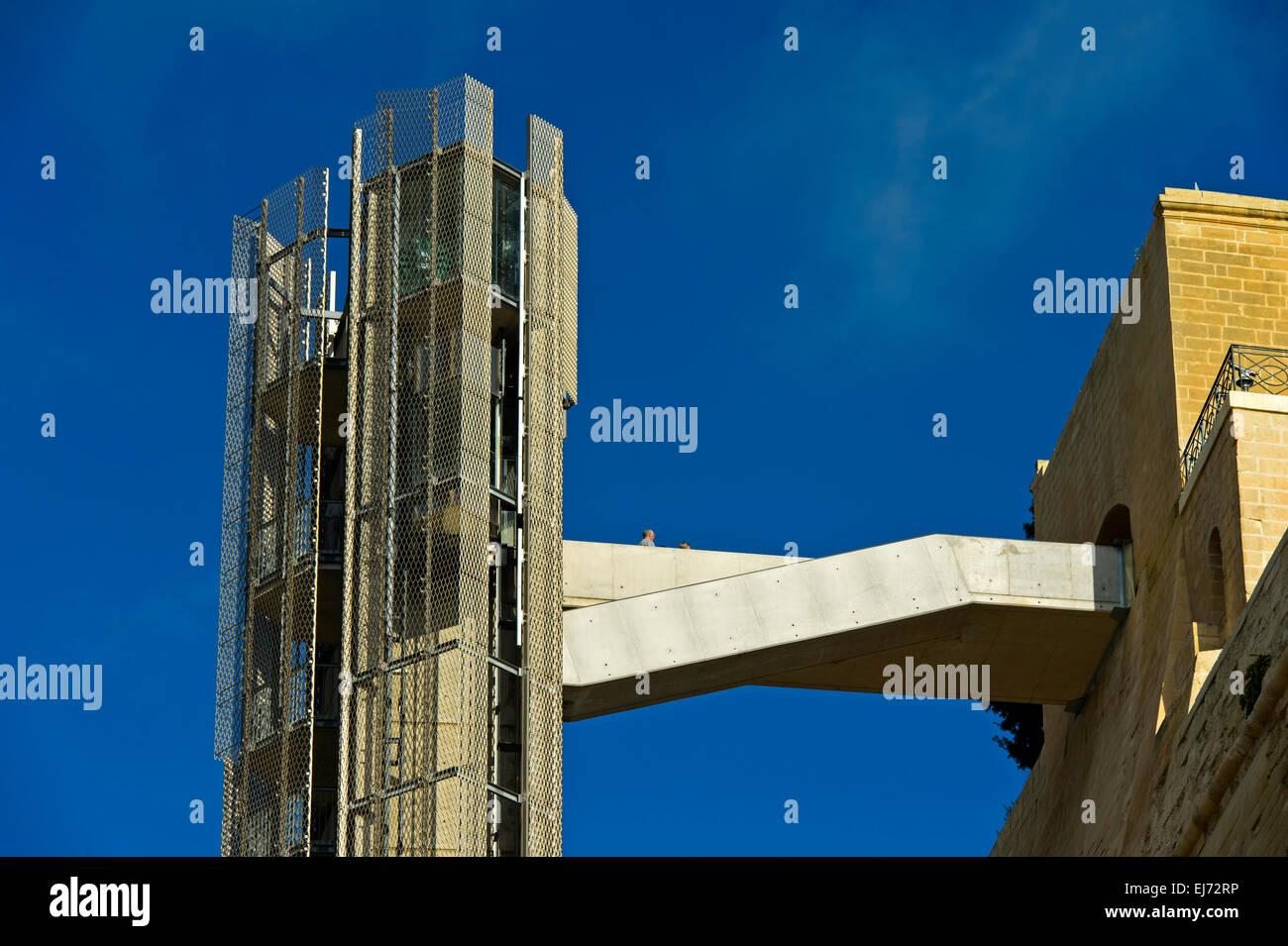 The Barrakka Lift, Valletta, Malta - Stock Image