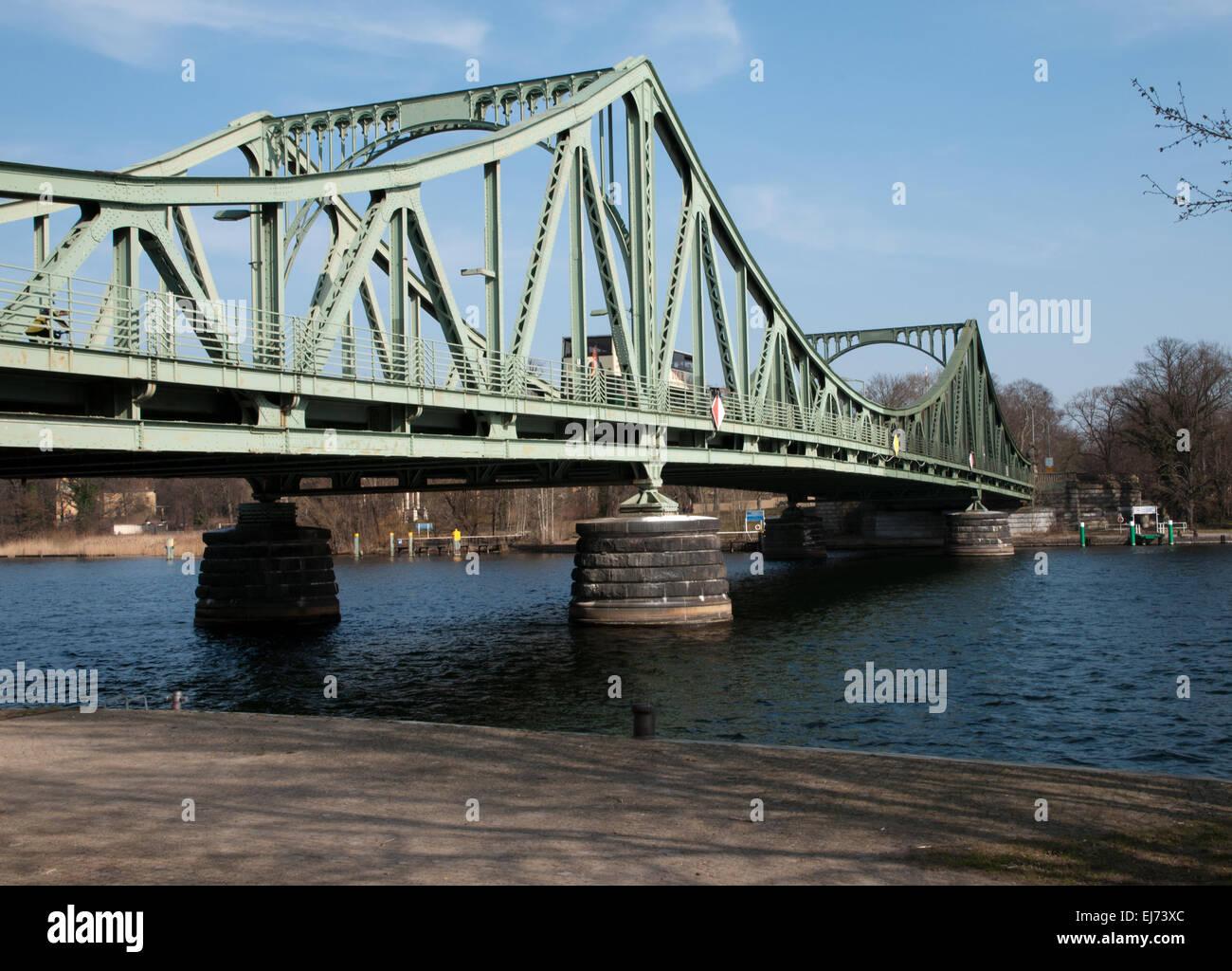 Glienicker Bruecke bridge, scene of Cold War spy exchanges - Stock Image