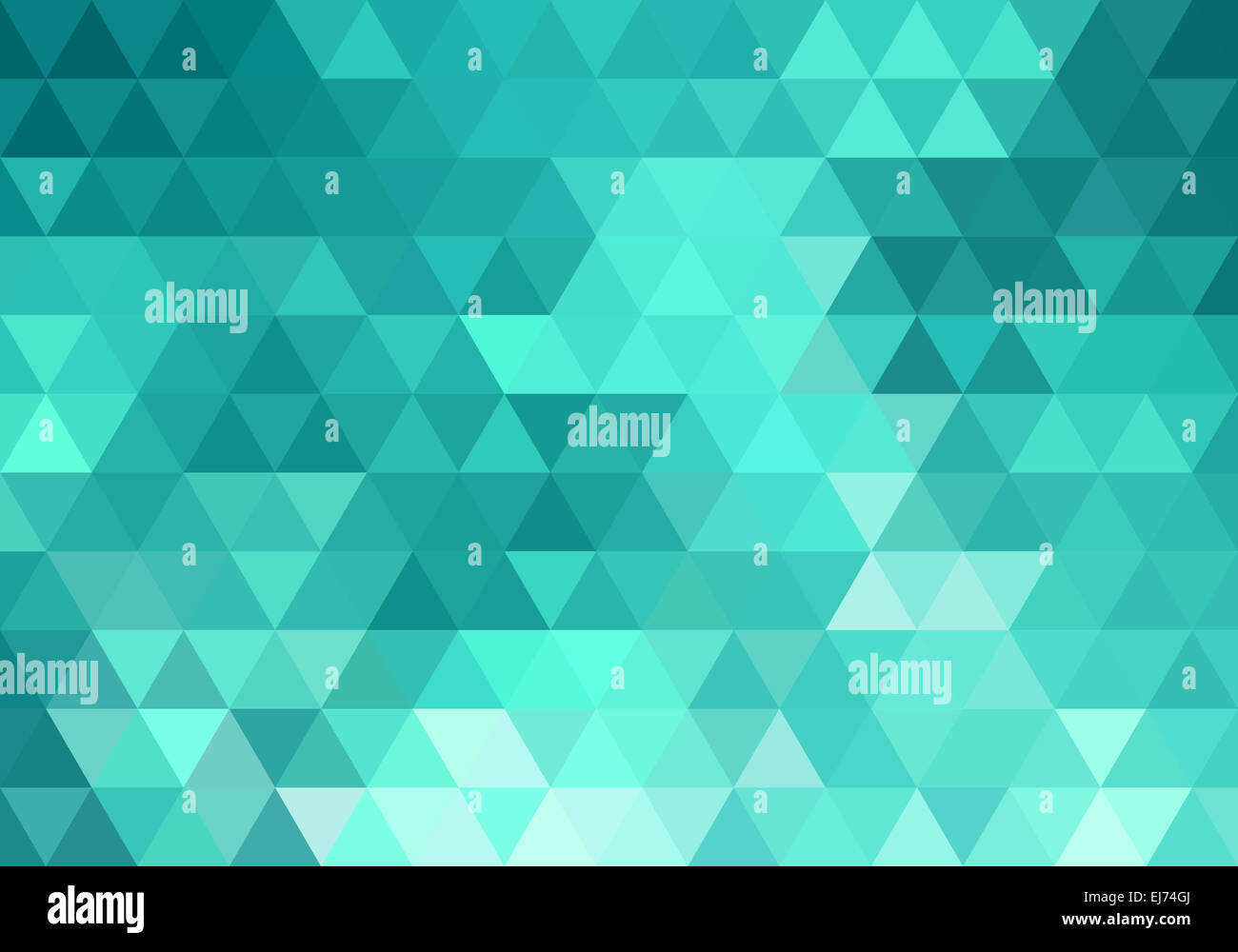 abstract teal geometric vector background, triangle ...