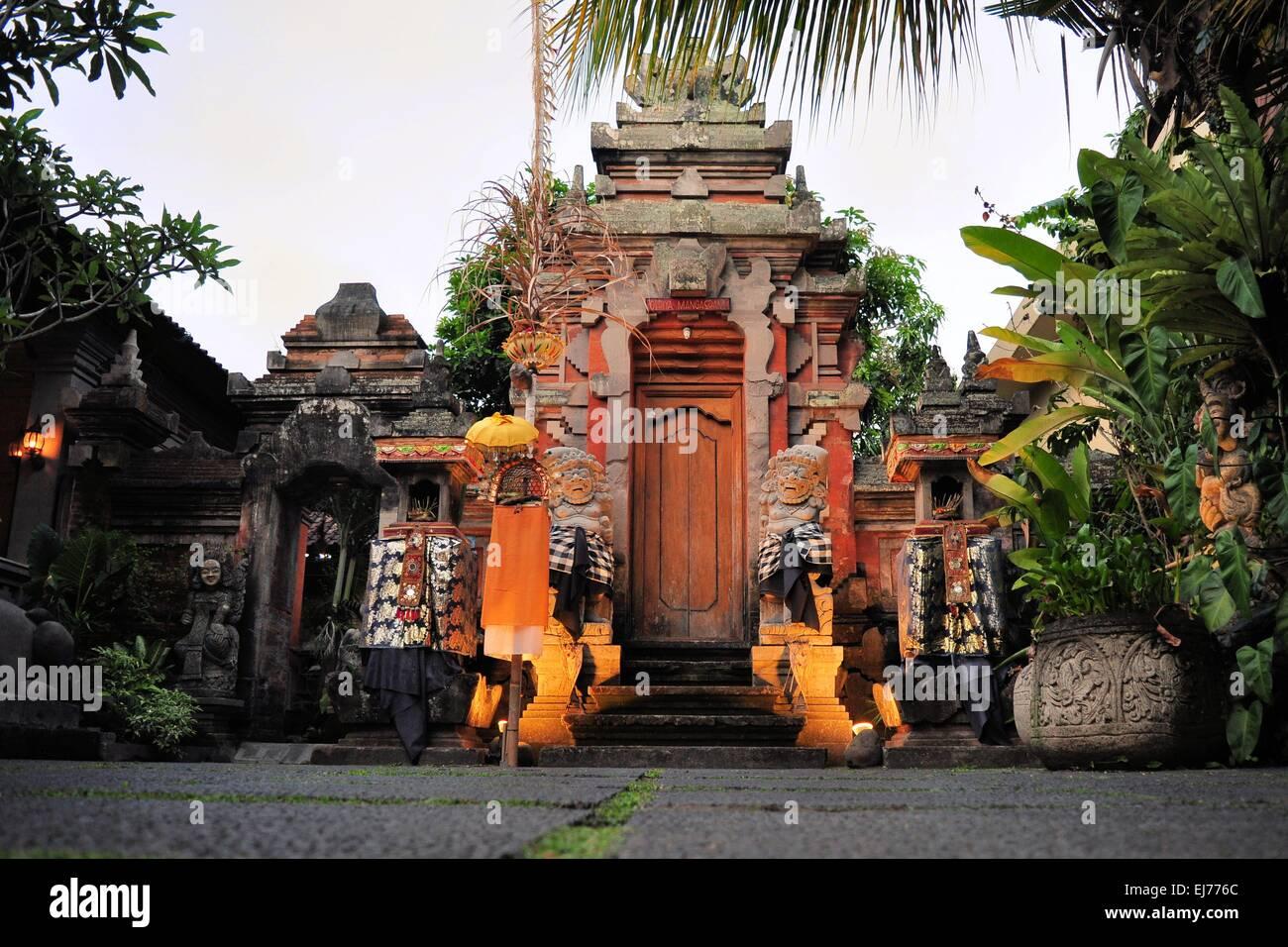 Hindu temple, Ubud, Bali - Stock Image