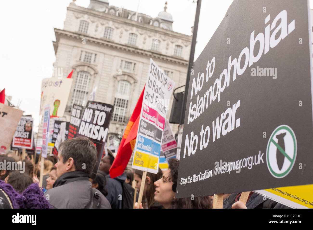Anti-Racism Demo in London, 21st March 2015 - Stock Image
