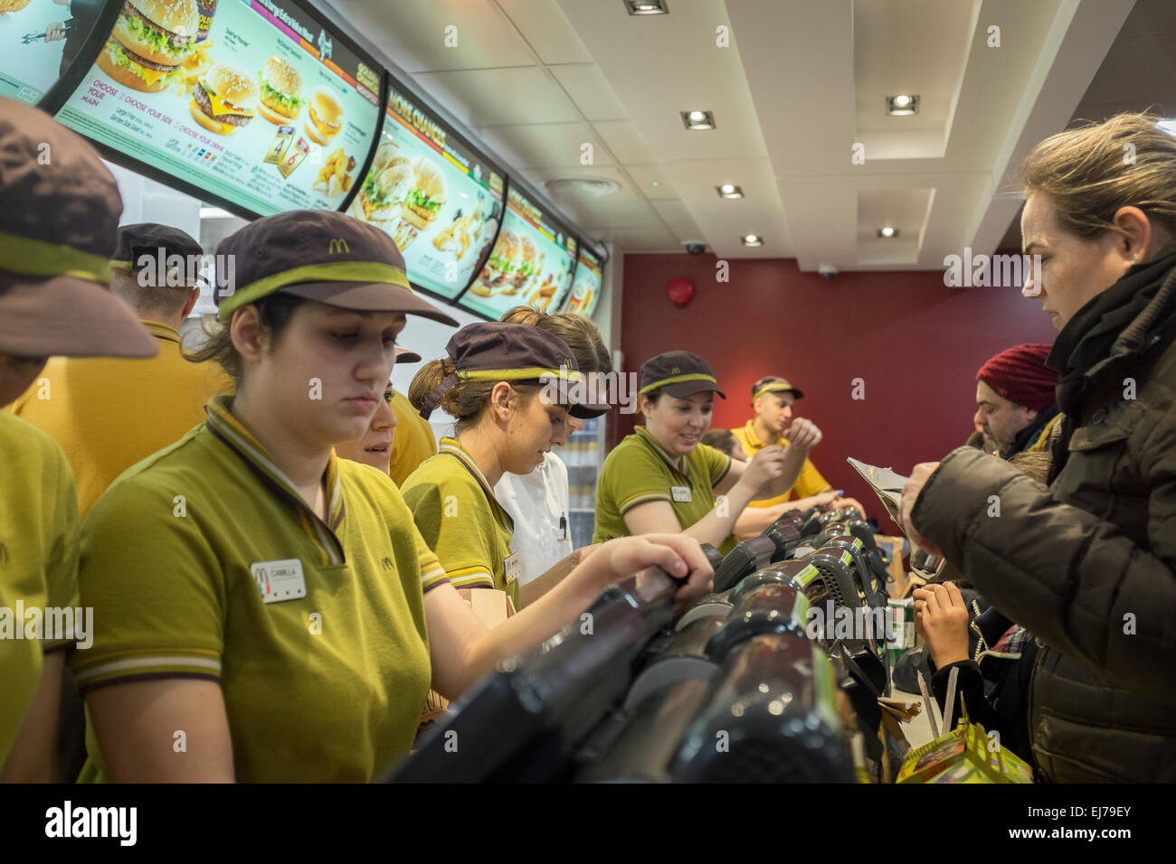 A Branch of McDonald's - Stock Image