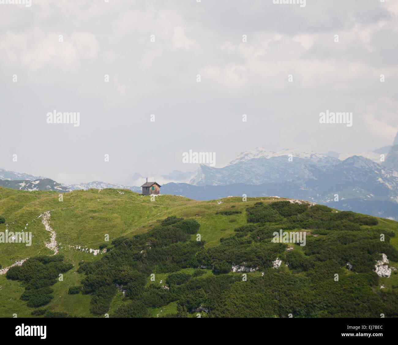Blick vom Losergipfel über Anger ins Tote Gebirge - Stock Image
