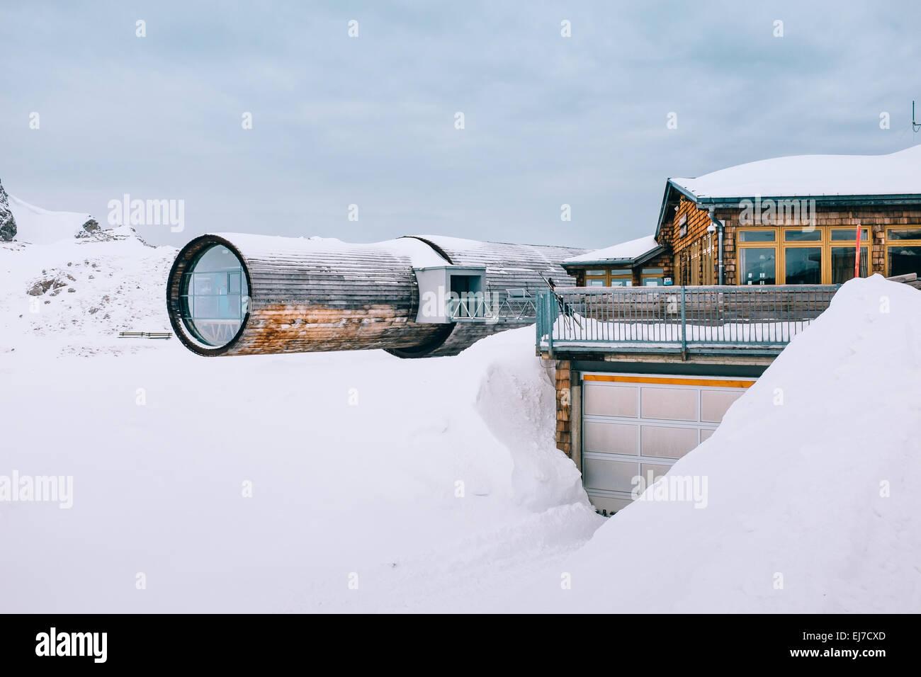 Bergwelt informationcentre on Karwendel mountain , Mittenwald , Bavaria, Germany - Stock Image