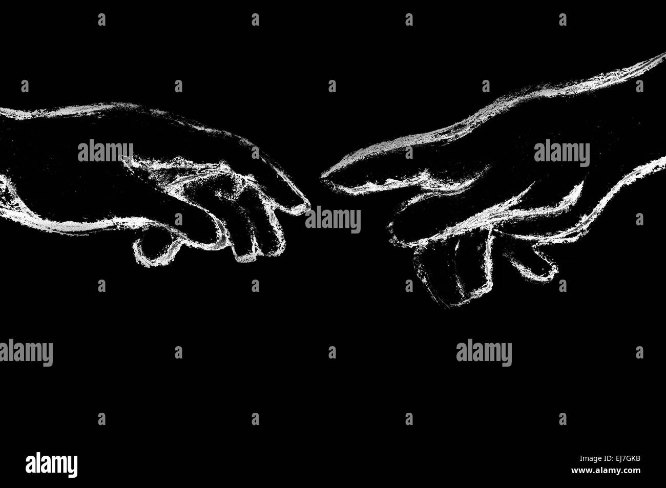 Pointer-black background the creation of Adam Stock Photo