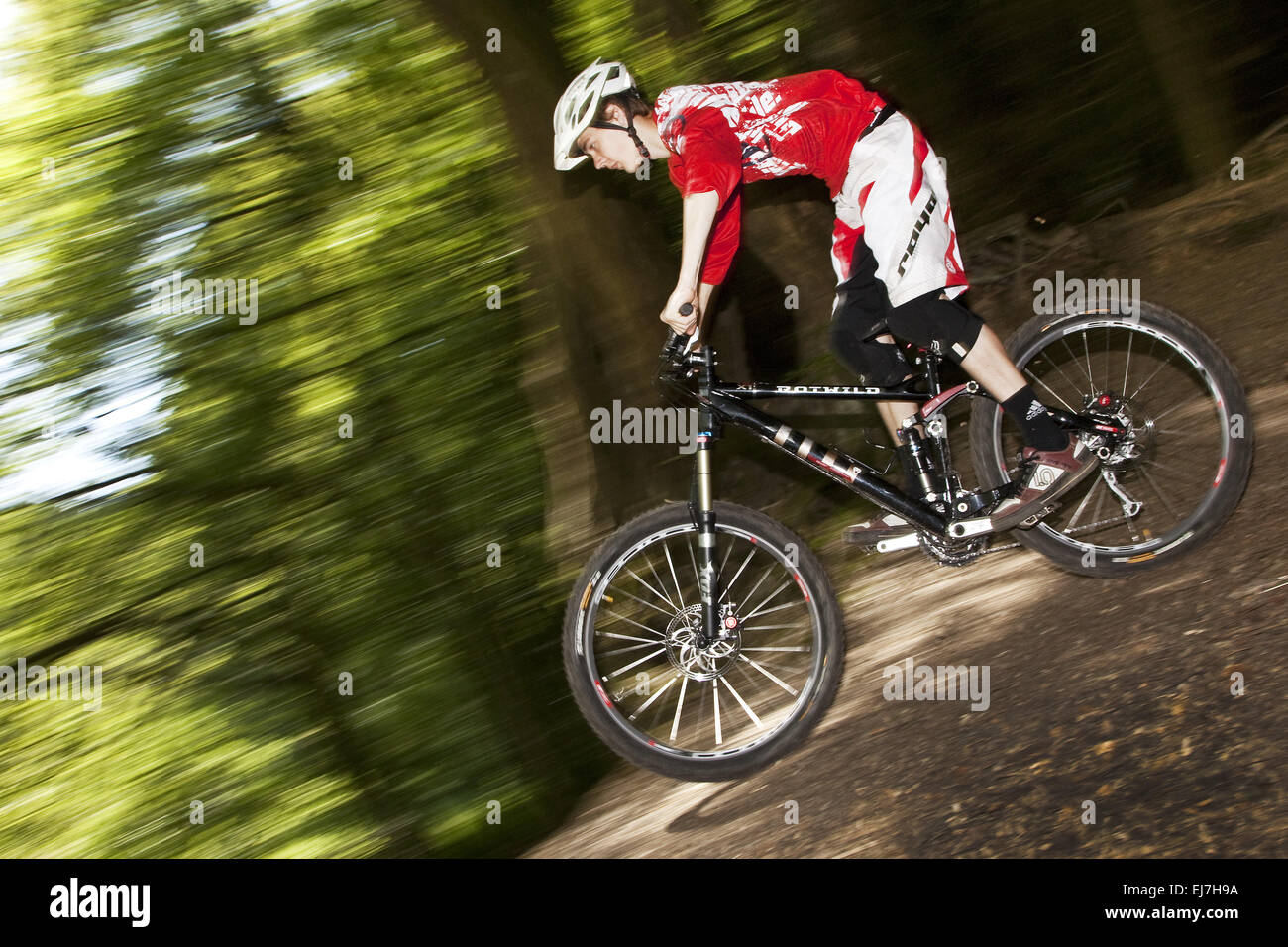 Mountain cyclists, Witten, Germany - Stock Image