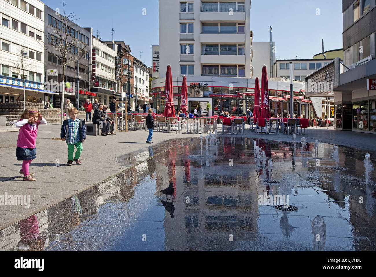 Citizen of Berlin place, Witten, Germany - Stock Image