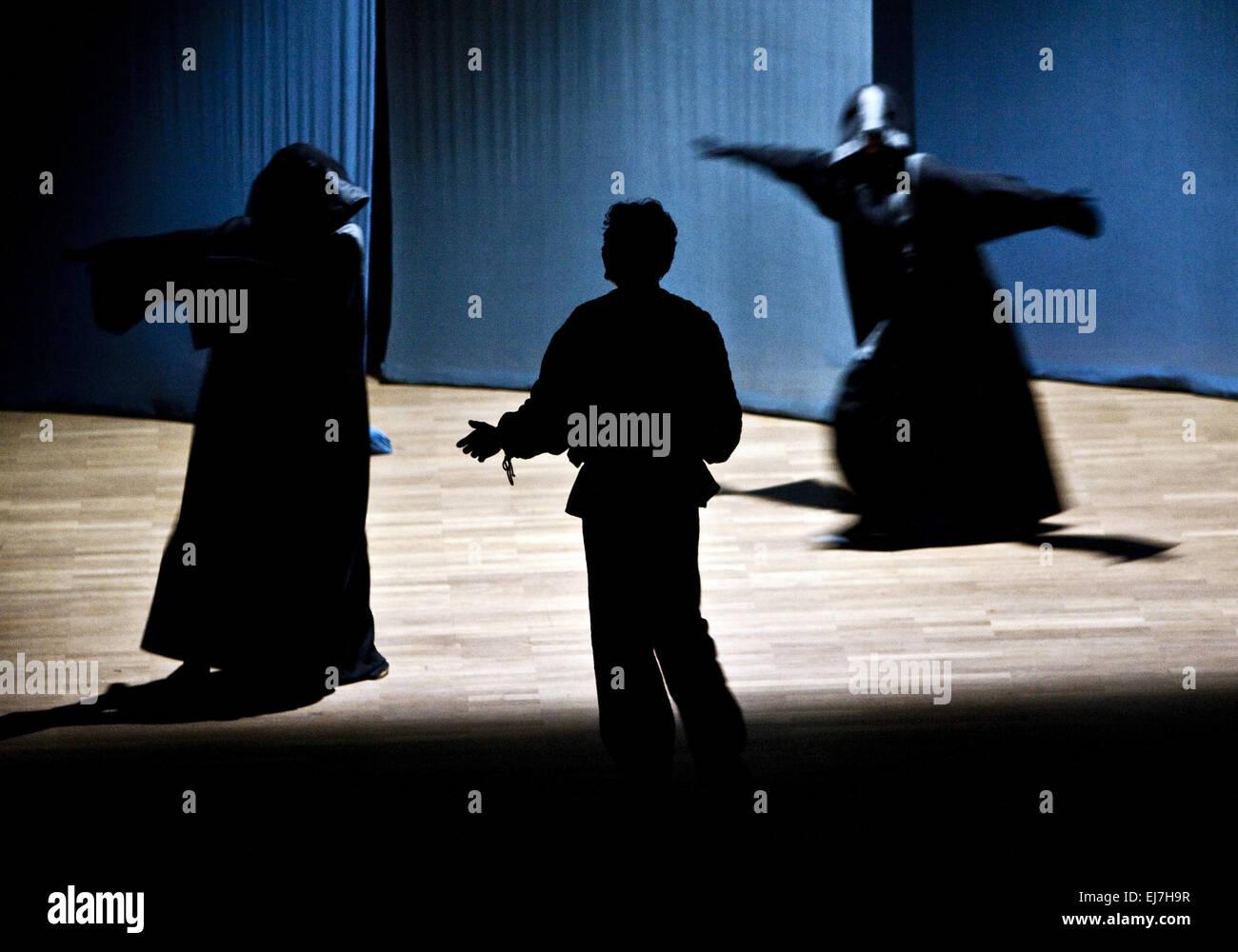 Eurythmy Performance, Witten, Germany - Stock Image