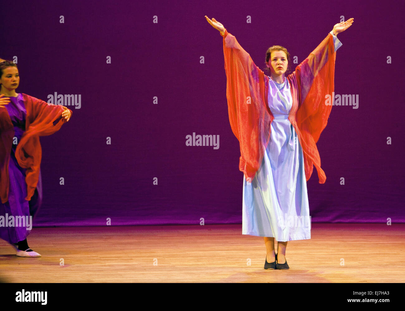 Eurythmy Performance, Witten, Germany - Stock Image