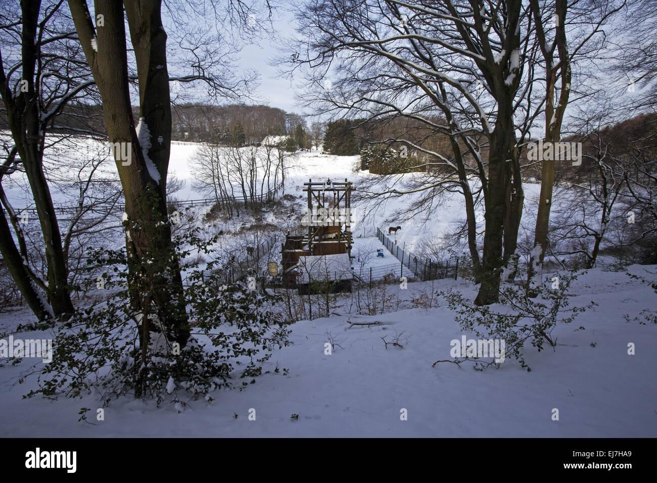 Landscape colliery Egbert, Witten, Germany - Stock Image