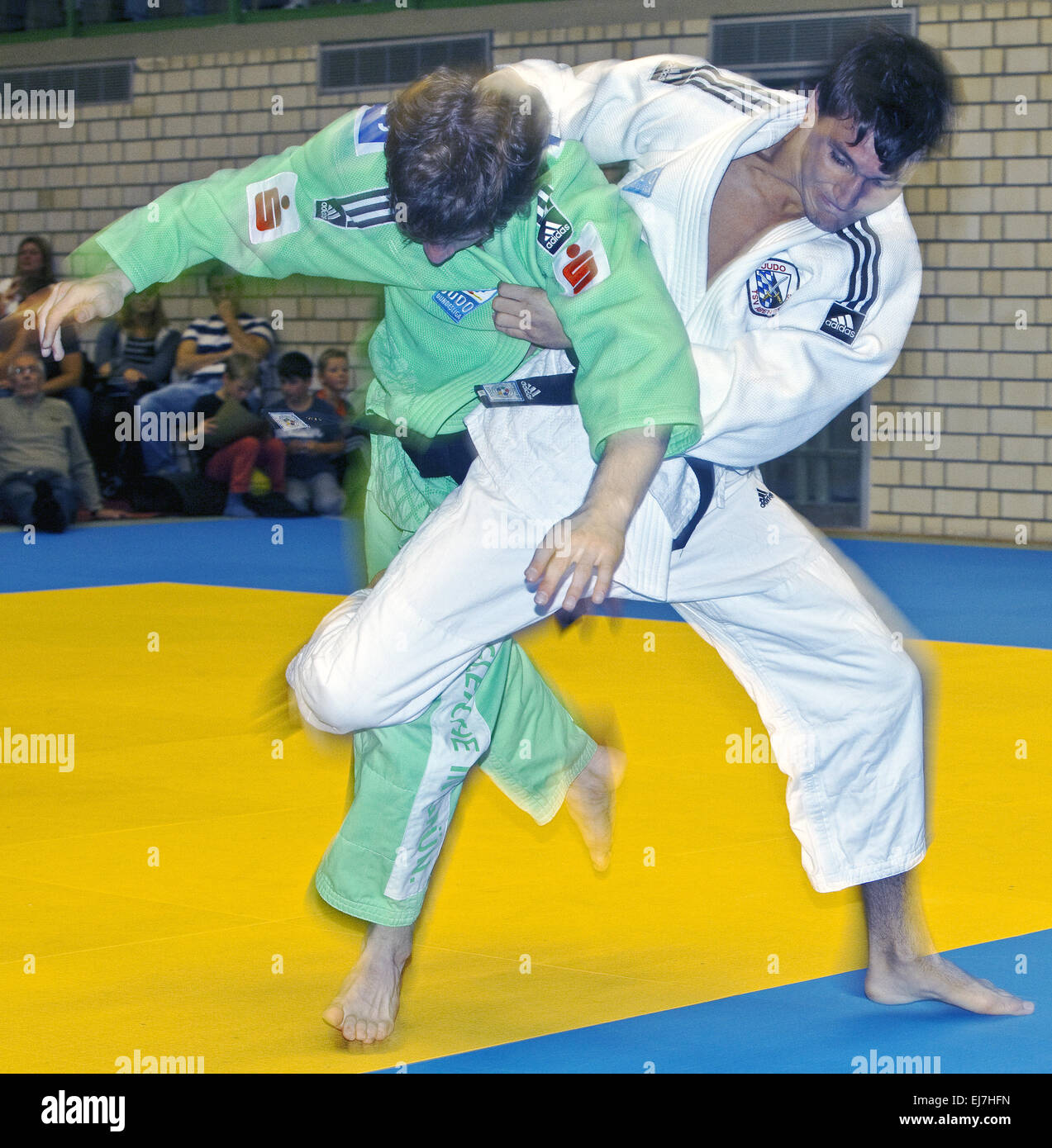 Two judoka's in the fight Witten, Germany - Stock Image