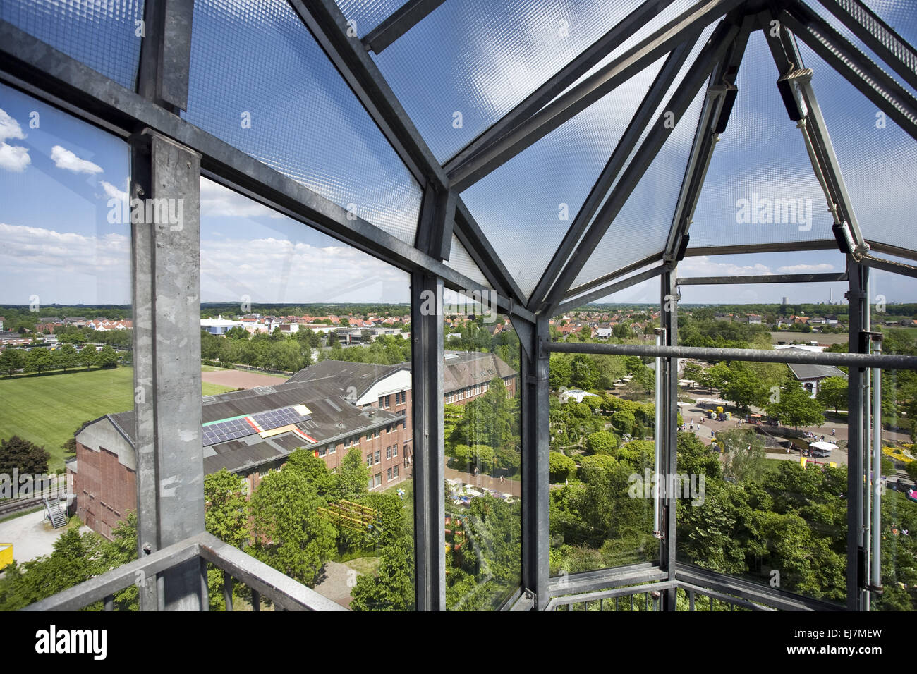 View from the glass elephant, Hamm, Germany - Stock Image