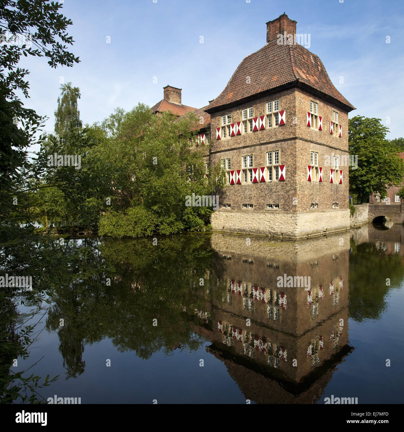 Castle Oberwerries, Hamm, Germany Stock Photo
