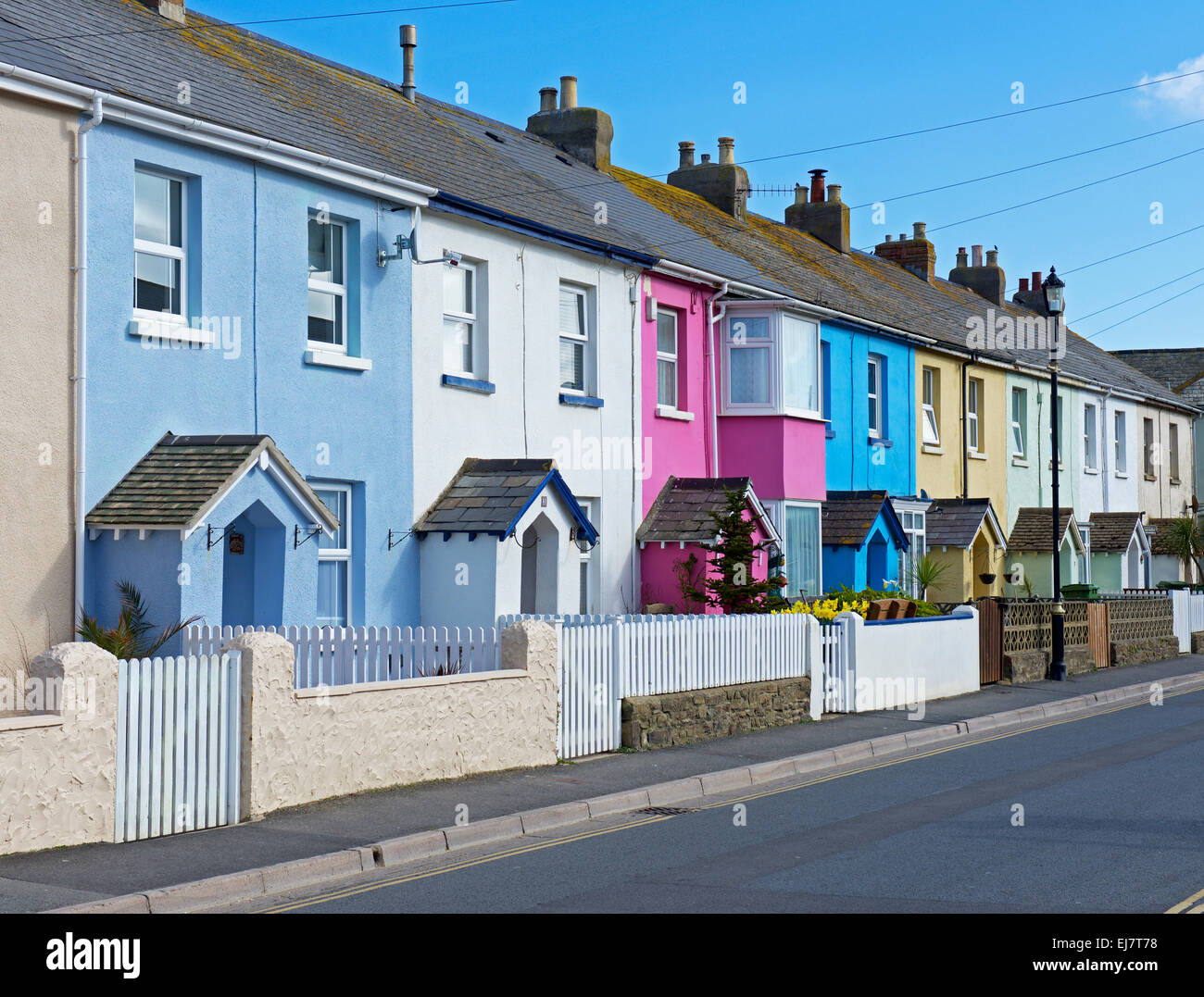 The Coloured House.Coloured Houses Stock Photos Coloured Houses Stock Images