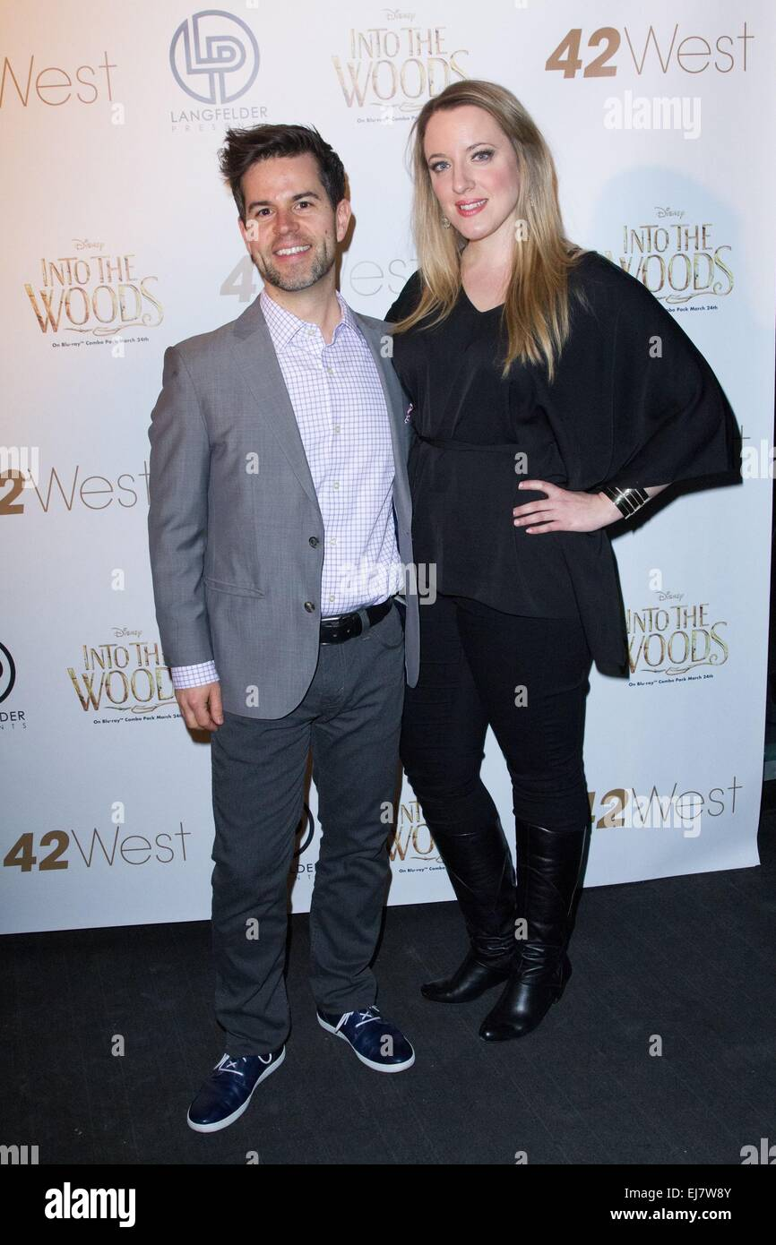 New York, NY, USA. 22nd Mar, 2015. Brian Sills, Abby Mueller at arrivals for Disney Celebrates INTO THE WOODS In Stock Photo