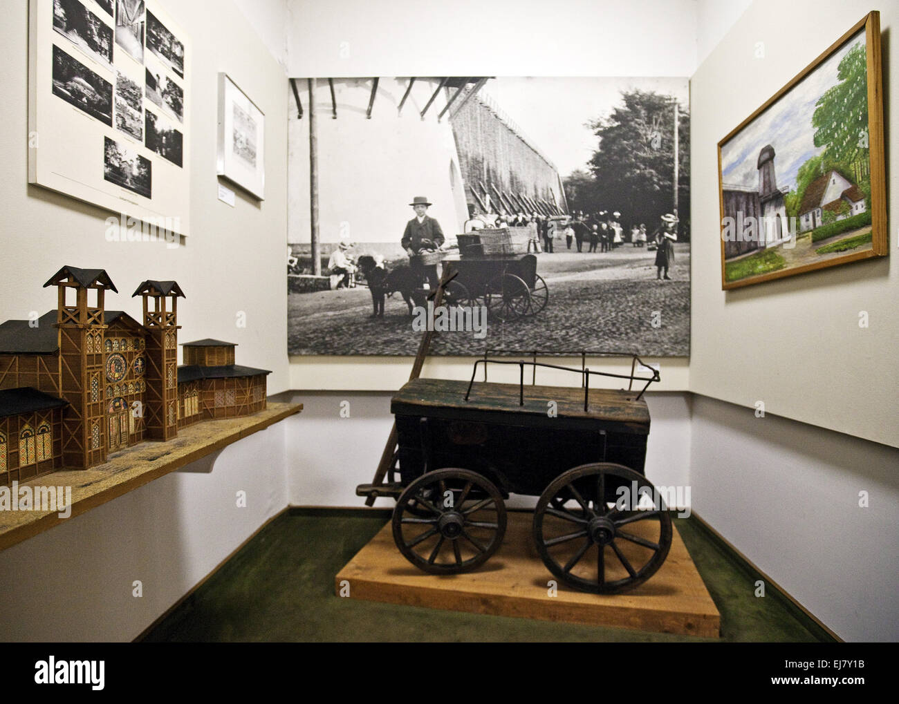 Hellweg Museum exhibition, Unna, Germany - Stock Image