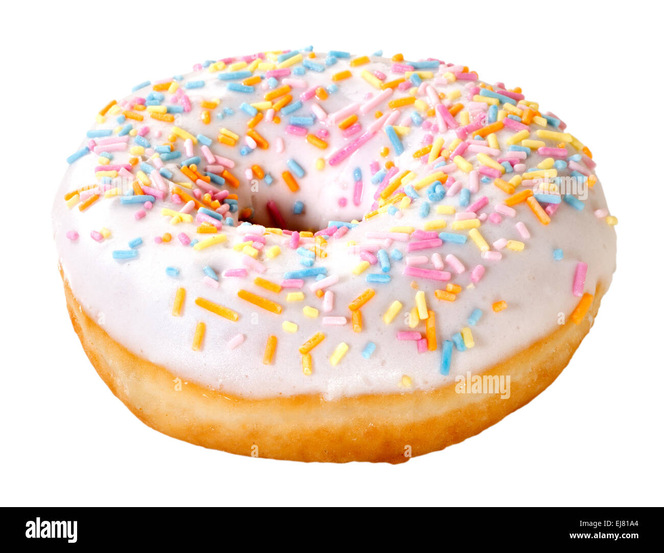 Sprinkle Donut(+clipping path) - Stock Image